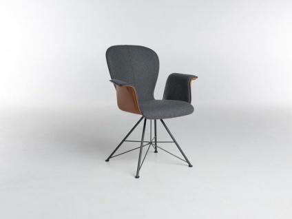Bert Plantagie Blake Spin mit Bi-Color-Polsterung und Armlehnen Stuhl 633 für Esszimmer Esszimmerstuhl Gestellausführung und Bezug in Leder oder Stoff wählbar