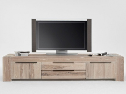 Bodahl Big Time TV-Bank 10026 rustic oak Massivholz Fernsehschrank mit zwei Schubladen für Wohnzimmer oder Gäastezimmer und sieben Ausführungen wählbar