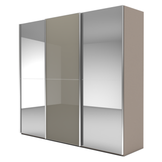 Nolte Möbel Marcato 2.2 Schwebetürenschrank Ausführung 2 mit 3 Sprossen Front A Kristallspiegel Korpus Front B Farbausführung Schrankgröße wählbar
