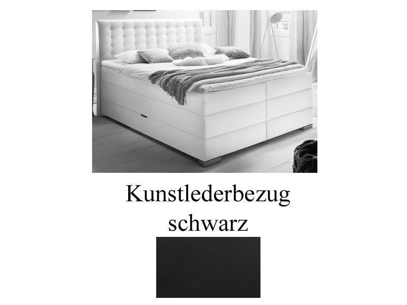 Meise Mobel Boxspringbett Lenno Mit Bettkasten Box Kopfteil Und Matratzen Mit Kunstlederbezug Uni Box Mit Bonnell Federkern 7 Zonen