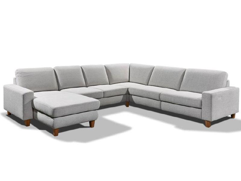 Candy Ecksofa Coast Plus Sofa in U-Form 1, 5-Sitzer 1, 5-Sitzer ohne ...