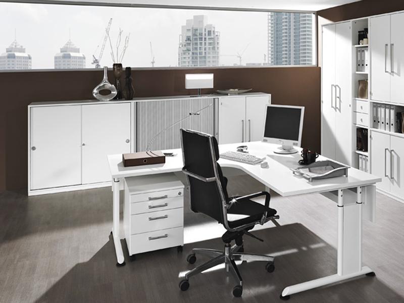 Wellemöbel Büromöbel Hyper Büro Welle Möbel Eckschreibtisch 5-teilig ...