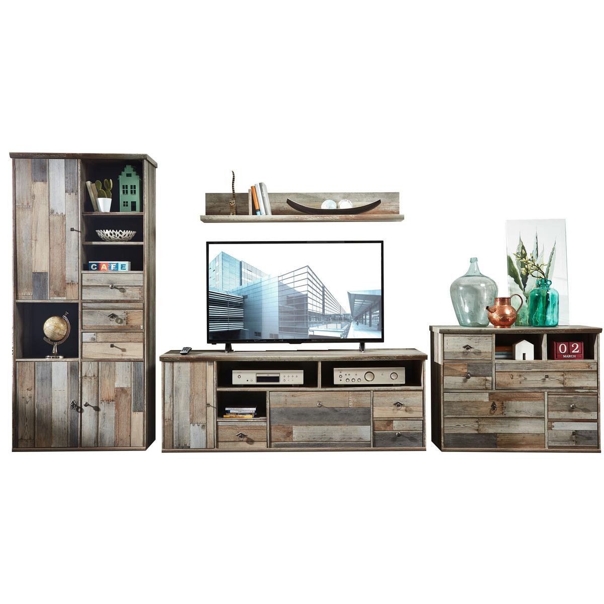 innostyle wohnkombination bonanza 4teilig 10 d0 dd 81 komplett wohnzimmermobel in driftwood nachbildung fur ihr wohnzimmer