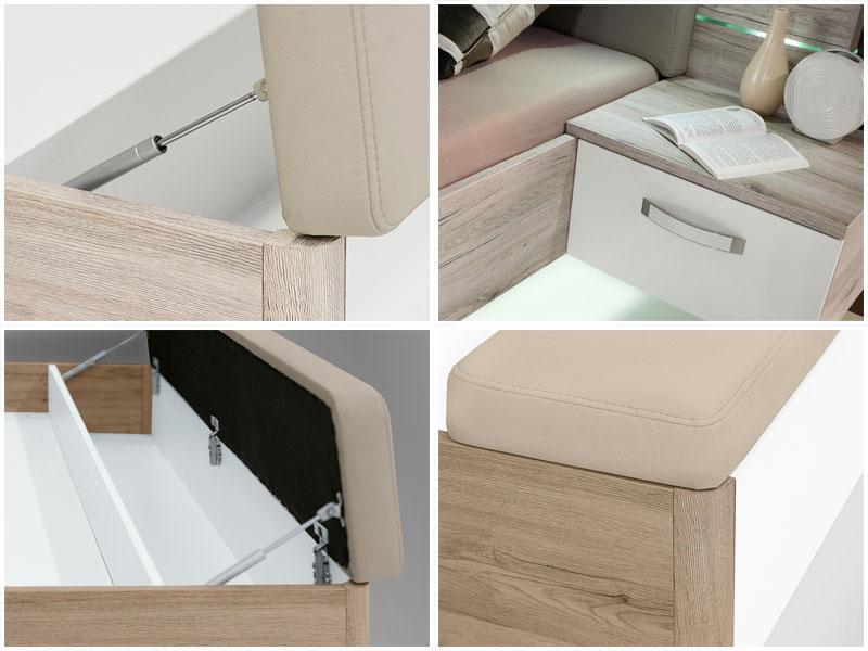 forte rondino bettanlage rdnl181b mit liegefl che ca 180x200cm bett inklusive. Black Bedroom Furniture Sets. Home Design Ideas