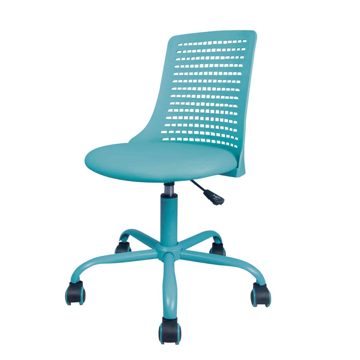 Drehstuhl für Kinder türkis myCHARLY gepolsterte Sitzschale und 360 Grad  drehbar Schreibtischstuhl für Schulanfänger