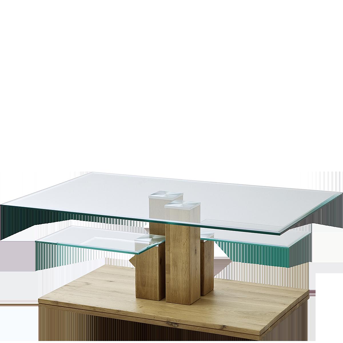 Mca Furniture Couchtisch Tonia 58798a14 Mit Platte Und Zwei Ablagen