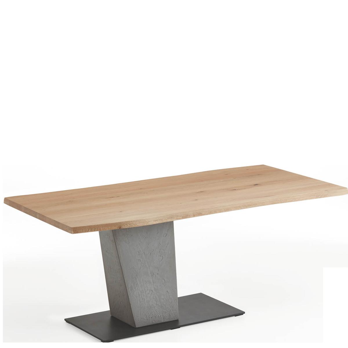 Hartmann Brik Esstisch Mit Tischplatte In Massivholz Gebürstet Säule