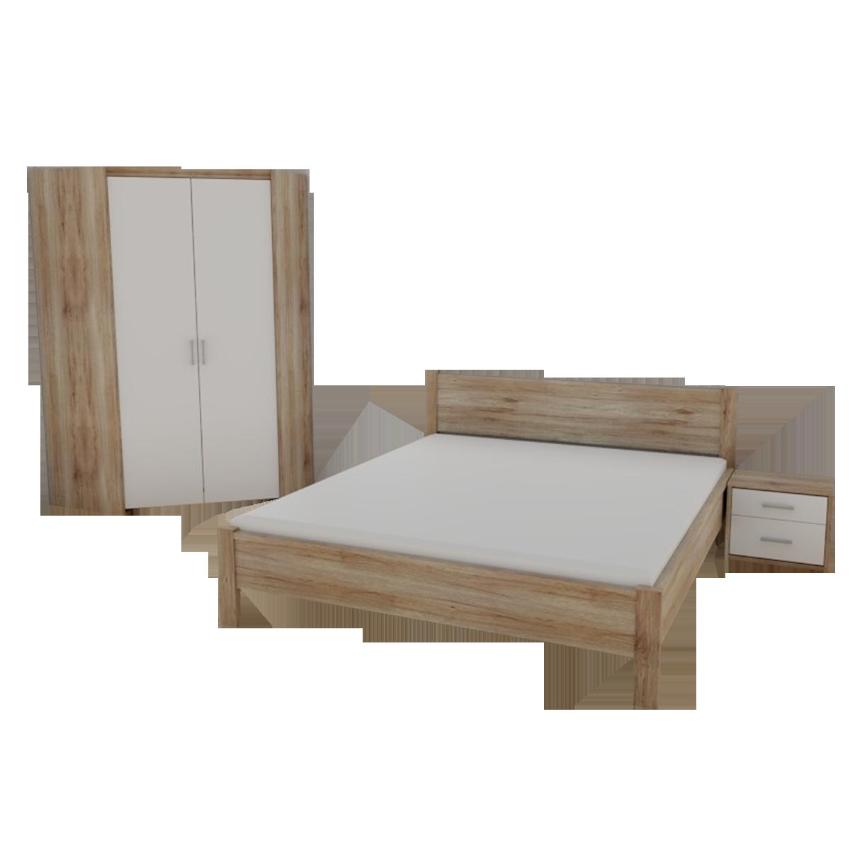 Priess Luna Schlafzimmer 3-teilig bestehend aus Eckkleiderschrank 2 ...