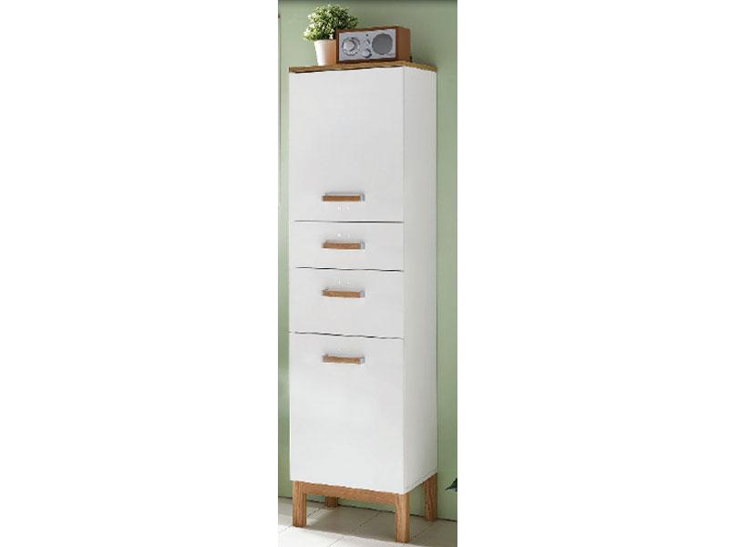 W schildmeyer badm bel capri hochschrank h400 kreidewei badschrank mit 2 t ren und 2 - W schildmeyer badmobel ...