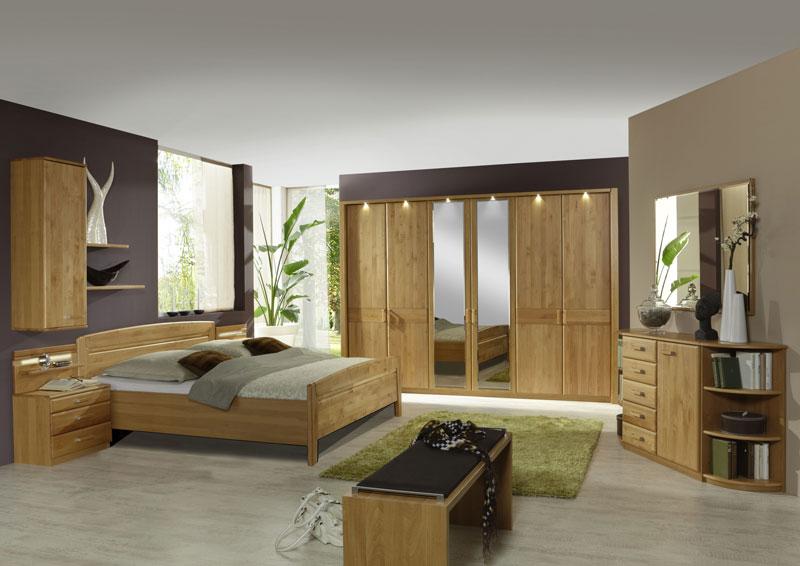 ... Schlafzimmer Lausanne Wiemann Doppelbett, Drehtürenschrank, 2  Nachtschränke, Beimöbel Sowie Ankleidebank In Erle Oder