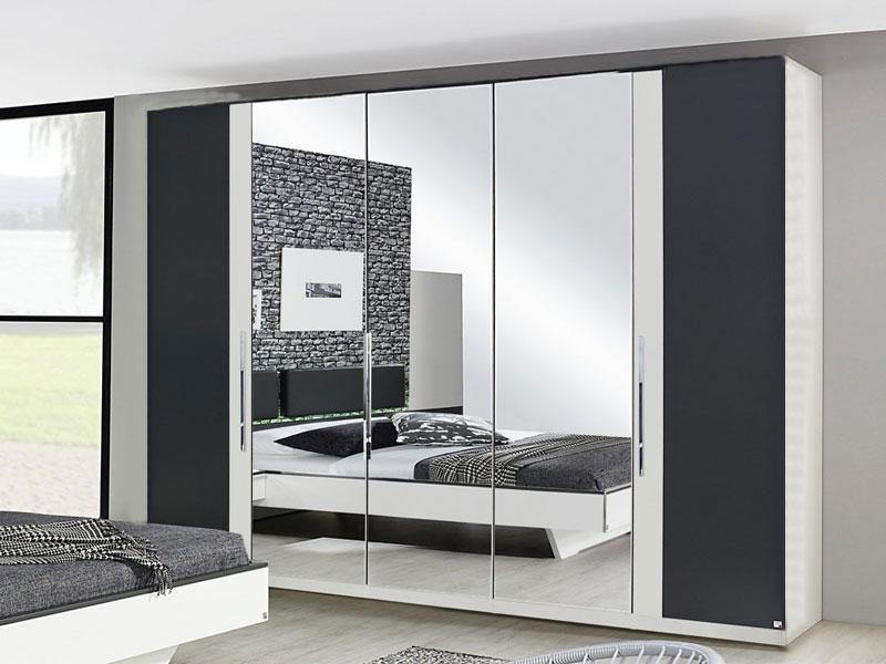 ... Rauch Falttürenschrank Colette Dialog Kleiderschrank Mit Spiegel Ohne  Beleuchtung Für Schlafzimmer   Größe Und Front ...