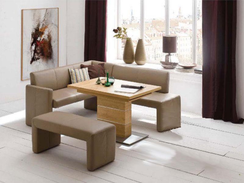 ... K+W Möbel Santo 4178 4 Teilige Essgruppe Eckbank Bankelement  Anbauelement Tisch Für Esszimmer Silaxx ...