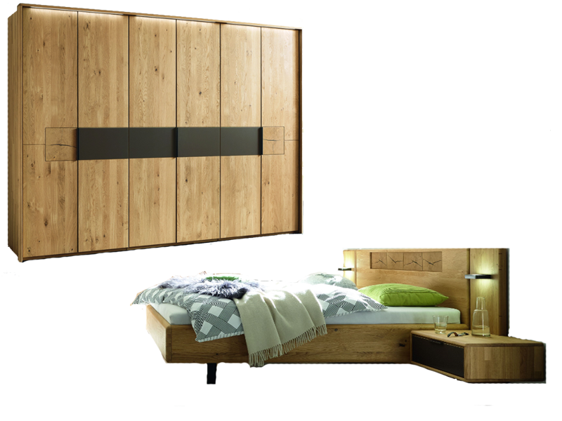 w stmann wsm 1600 schlafzimmer 2 teilig in der ausf hrung europ ische wildeiche massivholz mit. Black Bedroom Furniture Sets. Home Design Ideas