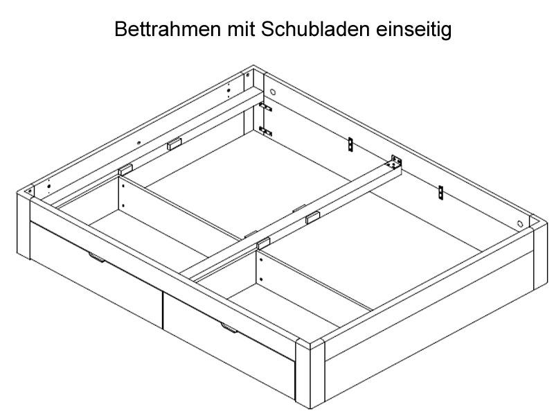 Neue Modular Primolar Bett Parma mit Bettkastenfunktion Kopfteil und ...