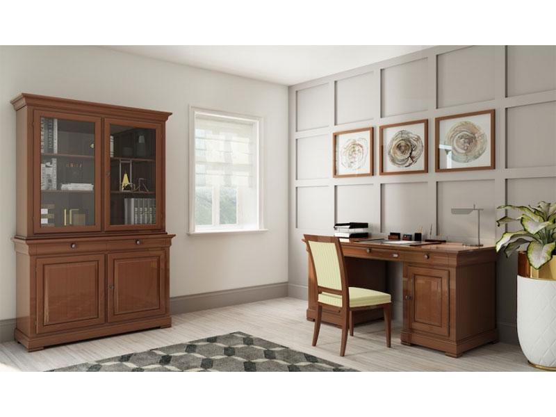 Selva Schreibtisch Constantia 6500 oder 6500D Bürotisch im Stil Louis  Philippe für Arbeitszimmer oder Wohnzimmer Ausführung wählbar