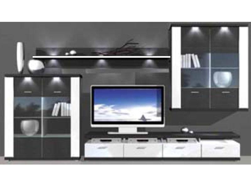 Ideal Möbel Wohnwand Manhattan Kombination 4 B Inklusive