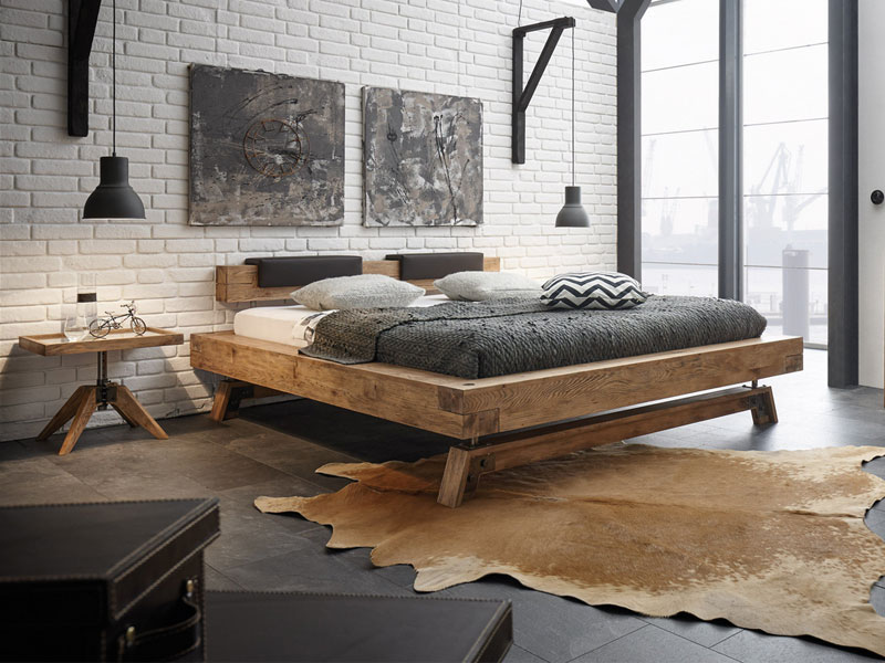 hasena bett oak wild vintage bettrahmen bloc 16 kopfteil. Black Bedroom Furniture Sets. Home Design Ideas