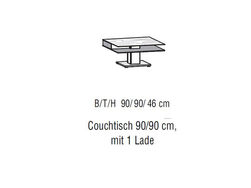 Voglauer V Alpin Couchtisch Ohne Oder Mit Laden Für Wohnzimmer Ladenvorderstück Colorglas Anthrazit 3