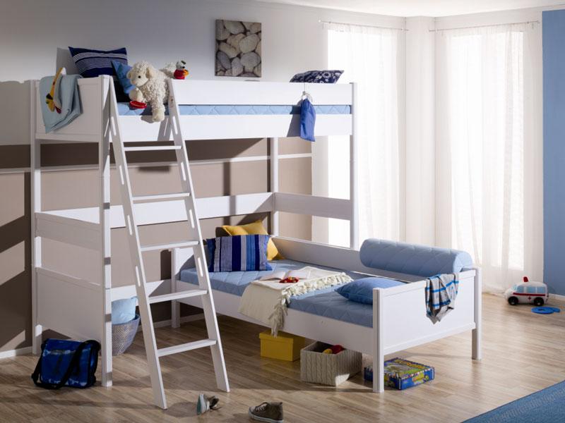 Etagenbett Kinderzimmer Paidi : Paidi sophia eck etagenbett in icy white liege spielbett