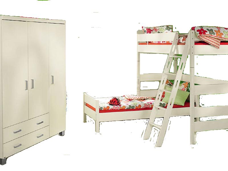 Paidi Biancomo Kinderzimmer Bestehend Aus 3 Turigen Kleiderschrank