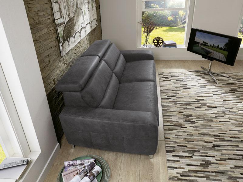Zehdenick 2 Sitzer Sofa Regis Mit Kopfpolsterverstellung Und