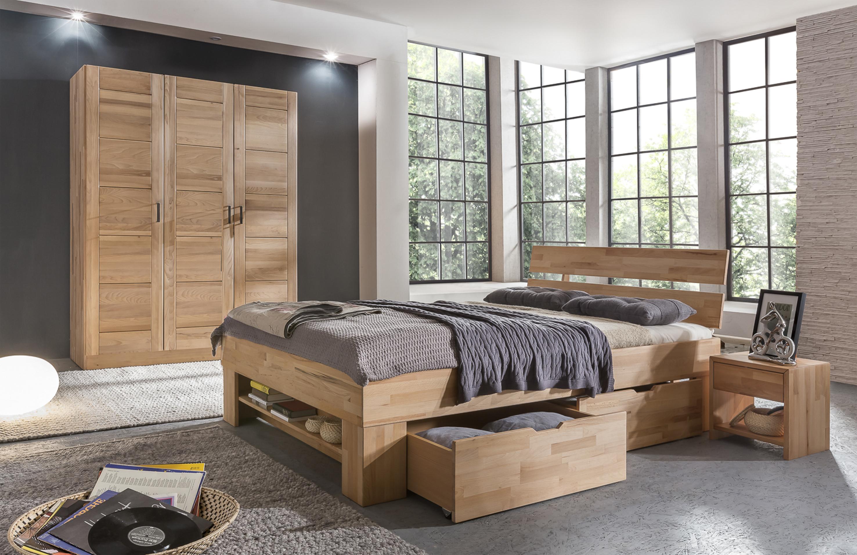 elfo kleiderschrank pia 3 kernbuche teilmassiv 3t riger. Black Bedroom Furniture Sets. Home Design Ideas