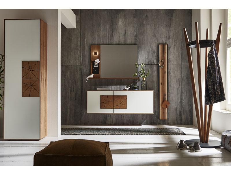 hartmann caya garderobe vorschlagskombination 102 dreiteilig aus massivholz kerneiche umato. Black Bedroom Furniture Sets. Home Design Ideas