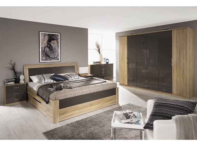 rauch pack 39 s arona kompl schlafzimmer bett nachttische kommode dreht renschrank dekordruck. Black Bedroom Furniture Sets. Home Design Ideas