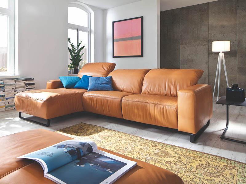 Candy Eckkombination Empire mit Metallkufe schwarz für Wohnzimmer in ...