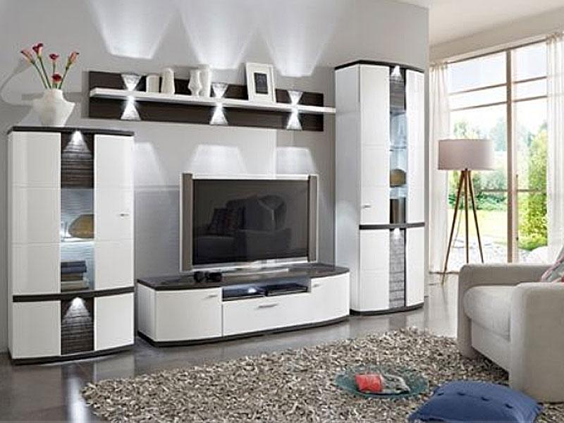 ideal mobel cabana wohnkombination 189sv inklusive frontbeleuchtung vierteilige wohnwand fur wohnzimmer in verschiedenen ausfuhrungen und
