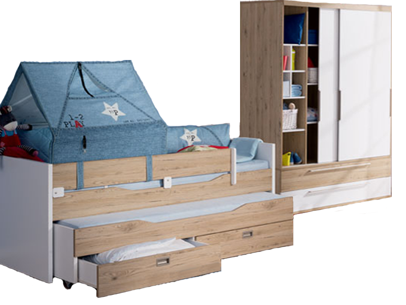 paidi fionn kinderzimmer bestehend aus einem kojenbett 90x200 cm einem 2 t rigen. Black Bedroom Furniture Sets. Home Design Ideas