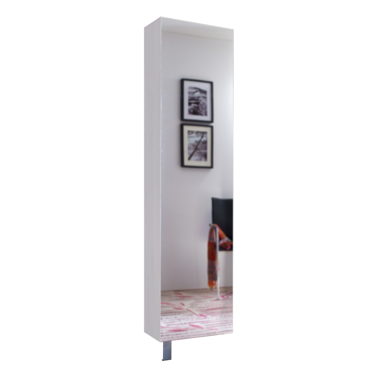 Mäusbacher Woody Schuhschrank 0971sp Drehbar Mit Spiegelfront Und 10 Verstellbaren Einlegeböden Für Ihren Flur Dekor Weiß Matt