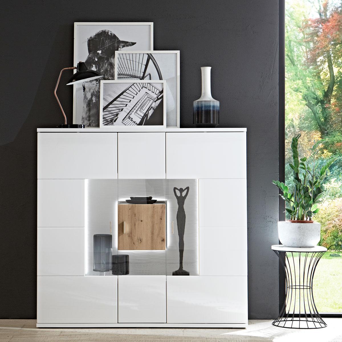 Ideal Mobel Canberra Highboard Type 52 Fur Ihr Wohnzimmer Oder