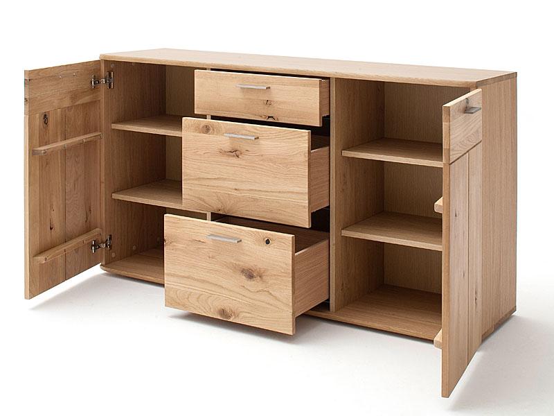 Mca Furniture Nilo Kommode Nil14t72 Front Balkeneiche Bianco