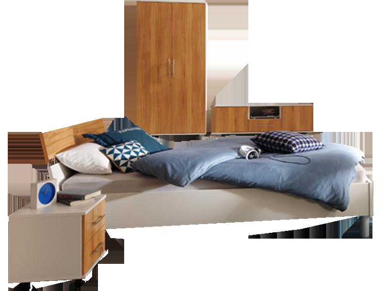 Priess Varia komplettes Schlafzimmer bestehend aus Bett 3-türiger ...
