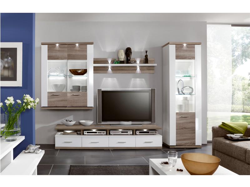 Ideal Möbel Wohnwand Manhattan Kombination 2 B Inklusive