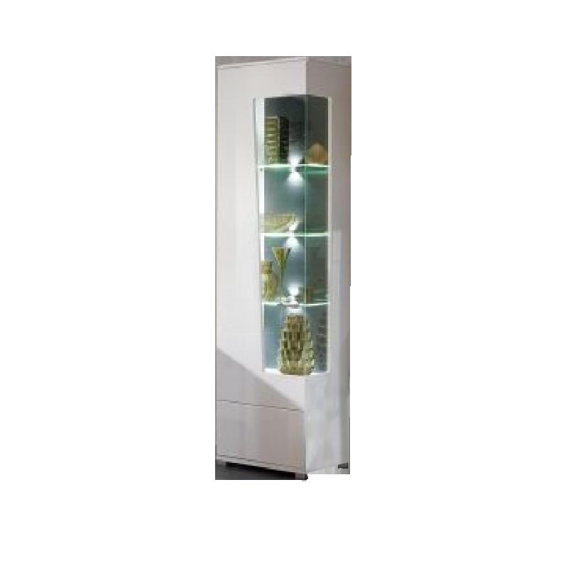 Wohn-Concept Alibaba Vitrine 40 88 WW 01 moderne Standvitrine für Ihr  Wohnzimmer oder Esszimmer mit einer Tür mit Glasausschnitt Vitrine in Weiß  ...