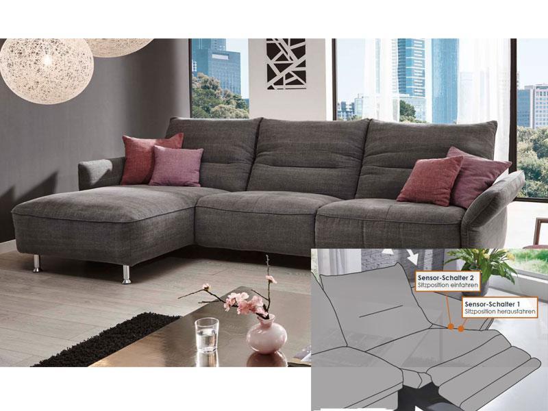K w m bel passo 7211 ecksofa sofagarnitur sofa element mit seitenteil zwischenelement und - Wohnzimmer ohne sofa ...