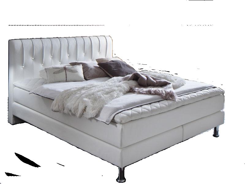 meise m bel boxspringbett meteor mit kunstlederbezug in wei oder schwarz kopfteil mit swarovski. Black Bedroom Furniture Sets. Home Design Ideas