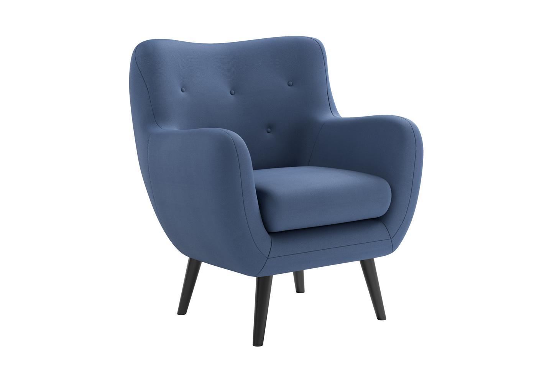 Fesselnde Sessel Hohe Rückenlehne Referenz Von New Look Loungesessel George, Mit Ausgestellten Holzfüßen,