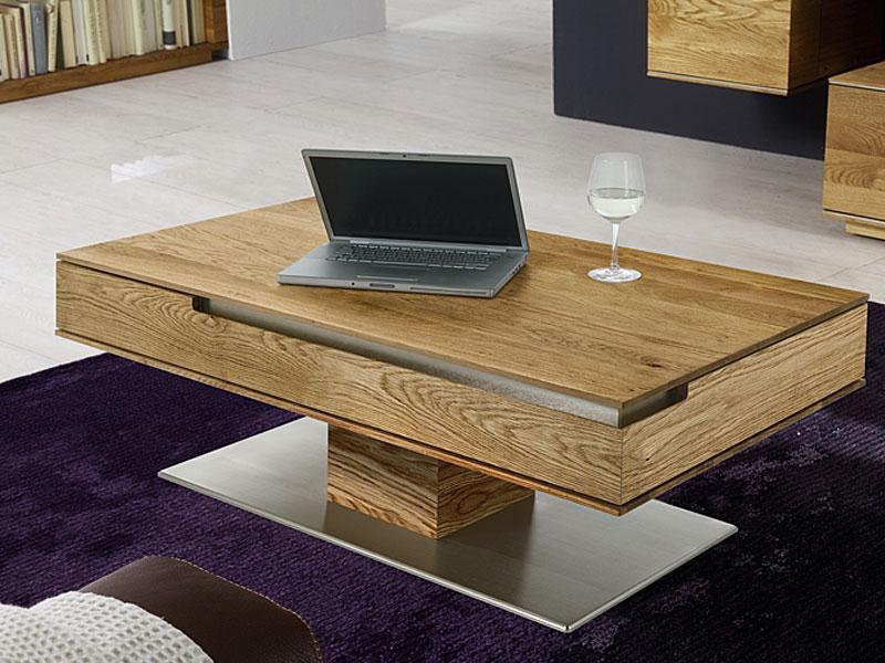 Wimmer Acerro Couchtisch Massivholz Tischplatte Einseitig Höhenverstellbar Für Ihr Wohnzimmer