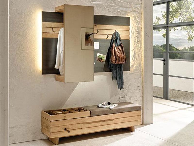 garderobe mit bank. Black Bedroom Furniture Sets. Home Design Ideas