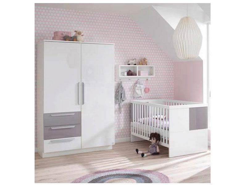 Wellemöbel Milla Babyzimmer 2-teilig , Kinderbett mit 2 ...