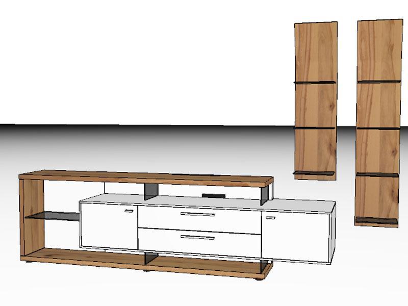 Gwinner Wohnwandkombination Media Concept MC906 Oder Seitenverkehrt  MC906 SV Wohnwand Für Wohnzimmer Ausführung Korpus Und ...