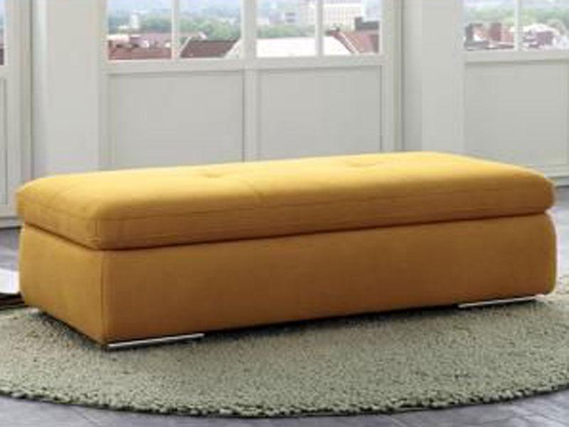 Megapol Hocker Location passend zum Sofa wahlweise gegen Mehrpreis mit  Stauraum Fuß Metallrolle glänzend