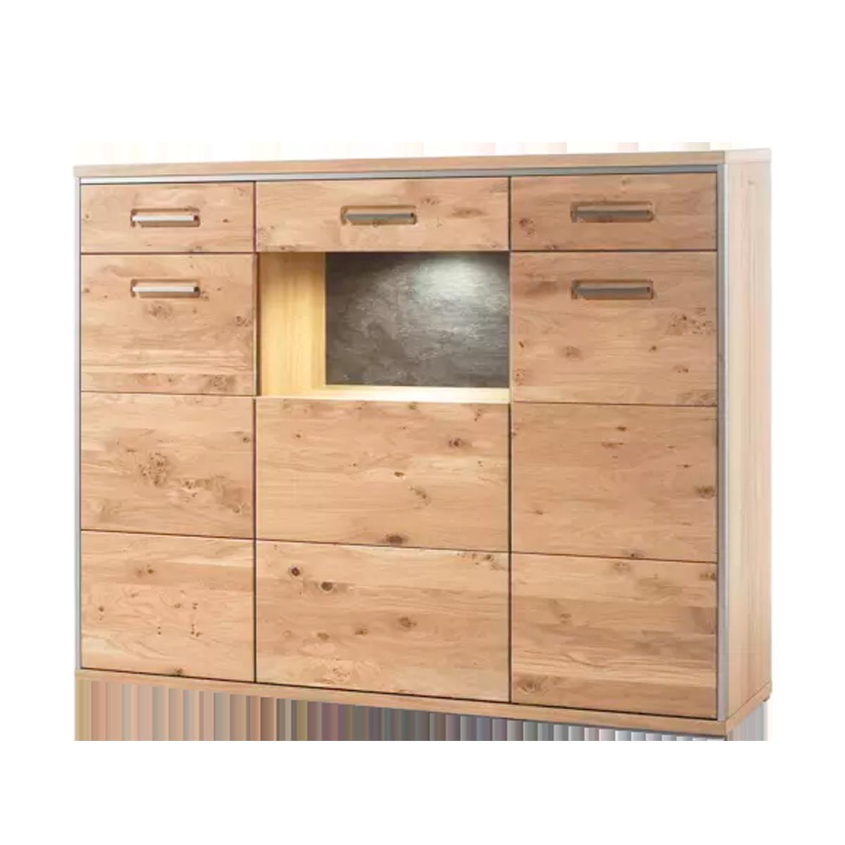 mca furniture espero highboard esp11t05 in ast eiche bianco massiv geolt fur ihr wohnzimmer 1