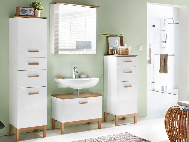 w schildmeyer m bel capri badm bel set 4 tlg f r badezimmer mit spiegelschrank highboard. Black Bedroom Furniture Sets. Home Design Ideas