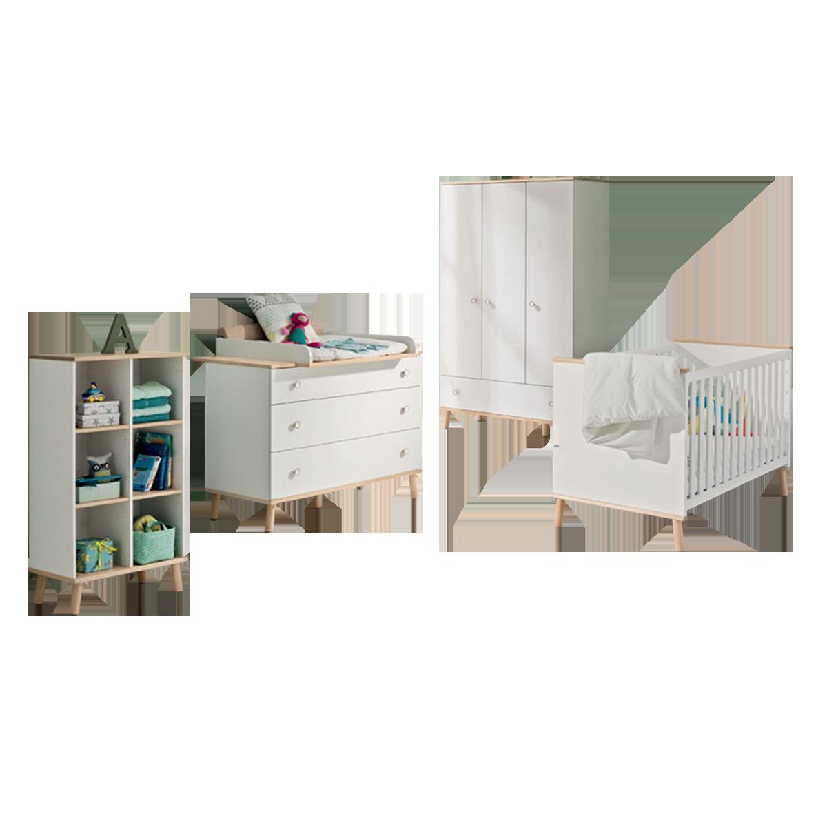 Paidi Ylvie Babyzimmer 4 Teilig Kinderbett Kleiderschrank