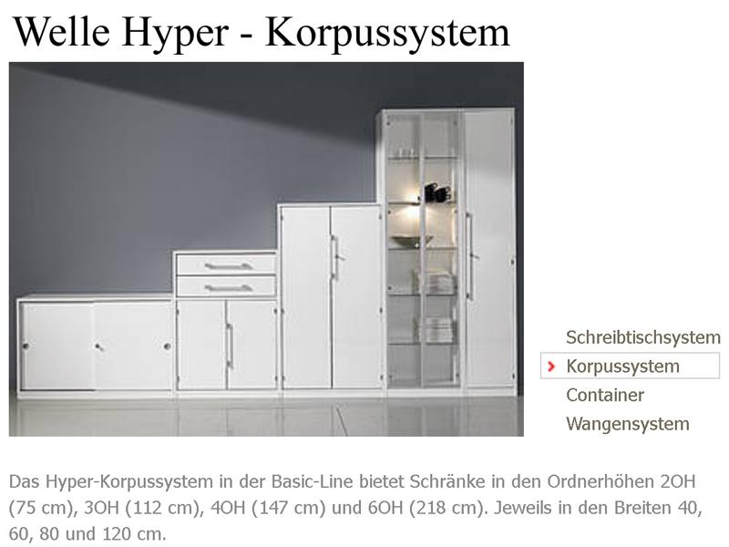 Wellemöbel Büromöbel Hyper Büro Welle Möbel Eckschreibtisch 3-teilig ...