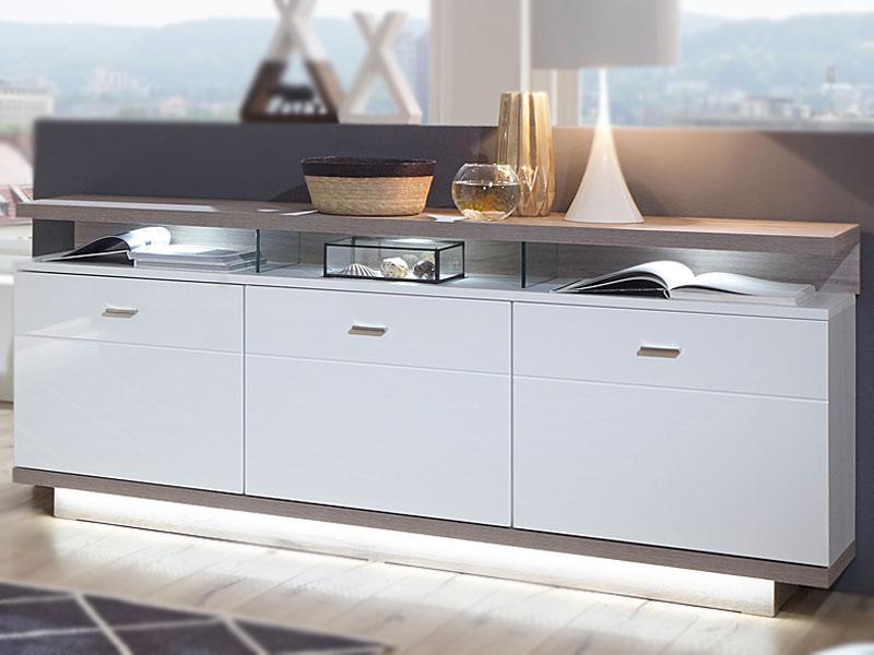 IDEAL Möbel Sideboard Nuna Type 51 Moderne Kommode Für Ihr Wohnzimmer Mit 3  Holztüren Und